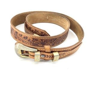 Justin Boots | Tooled Leather Belt